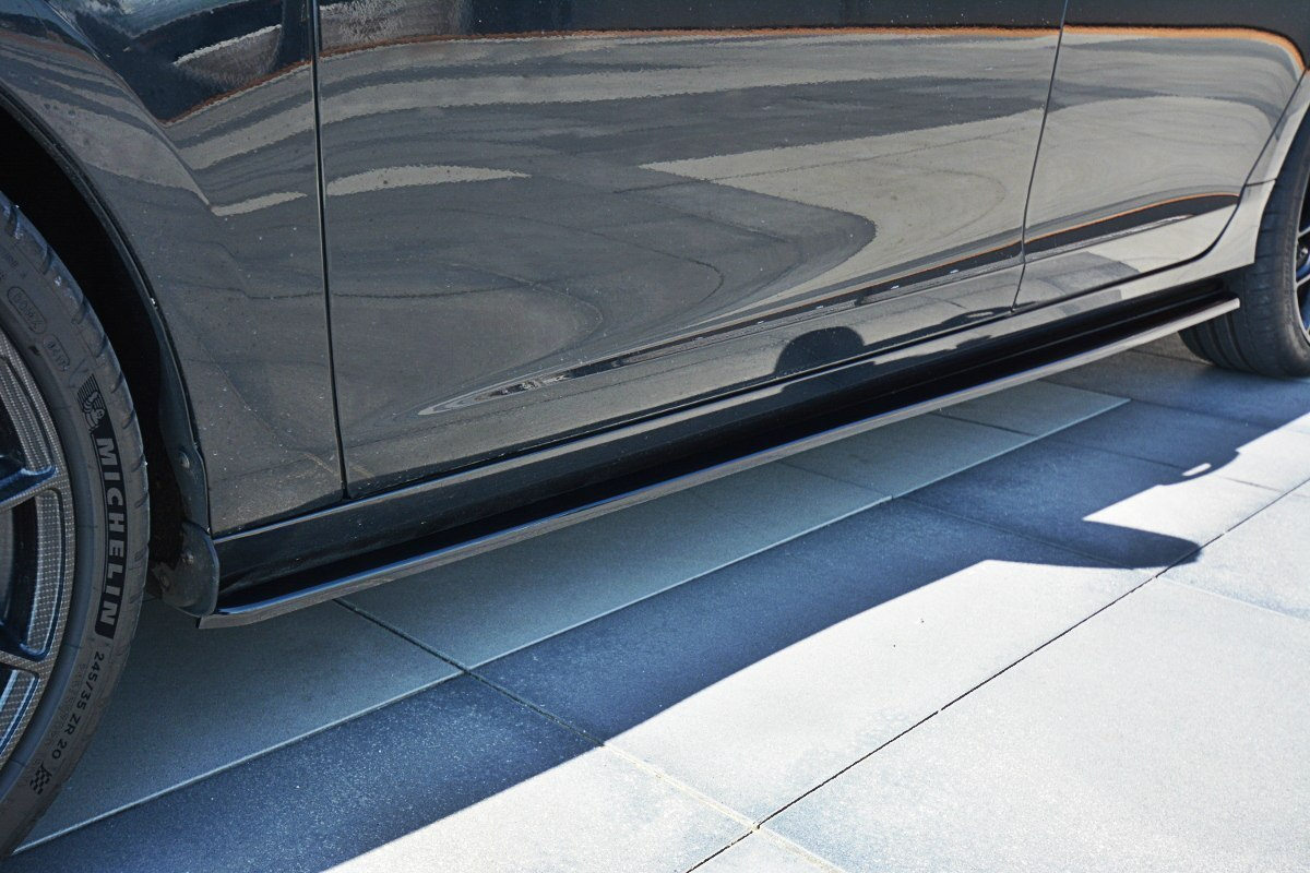 Dokładki Progów Volvo V60 Polestar Facelift - GRUBYGARAGE - Sklep Tuningowy